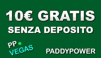 Paddypower bonus senza deposito