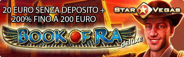 Gioca su Starvegas con 20 euro gratis
